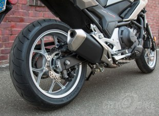 Honda NC700X - exhaust and rear wheel / brake