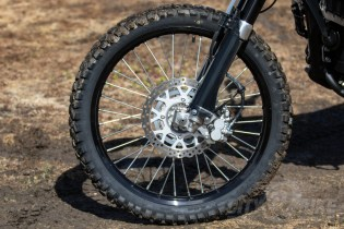 Kawasaki KLX250 - front wheel and brake.