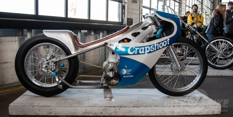 Alta-based Crapshoot custom build at the 2018 One Moto Show