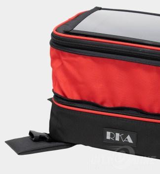 Premium colors - custom red expansion fabric - RKA SuperSport 19.5 liter expandable tankbag