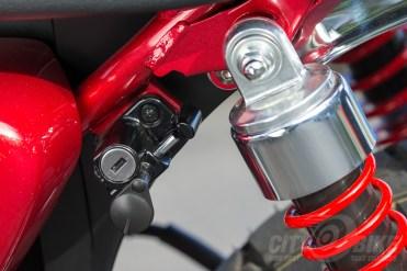 Honda Monkey shock mount and helmet lock