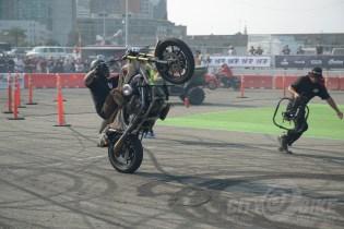 Stunters at the 2018 Moto Bay Classic.