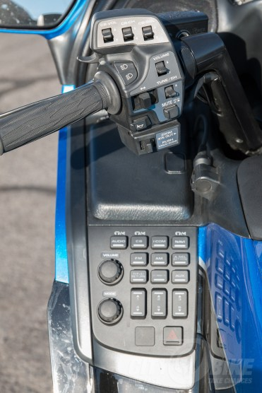 Left side controls on the 2017 Honda Gold Wing.