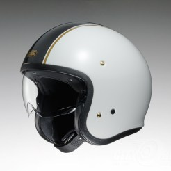 Shoei J•O open face helmet - Caburetor - white, side