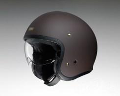 Shoei J•O open-face helmet in matte brown.