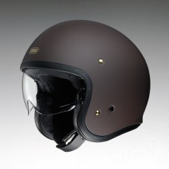 Shoei J•O open-face helmet in matte brown.