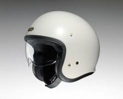 Shoei J•O open-face helmet in off white.