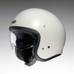 Shoei J•O open-face helmet in off white.