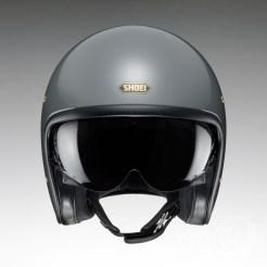 Shoei J•O open-face helmet in rat grey - front.
