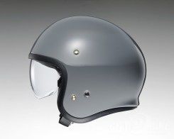 Shoei J•O open-face helmet in rat grey - side.