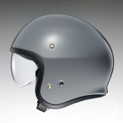 Shoei J•O open-face helmet in rat grey - side.