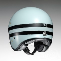 Shoei J•O open face helmet - Sequel - baby blue, rear