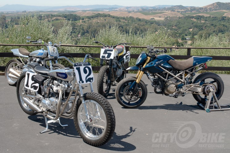 Terry has some exceptionally nice bikes at his place.