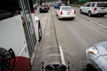 Motorcycle Traffic Safety dashcam view