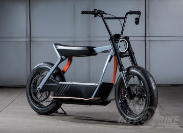 Harley-Davidson electric concept bikes.