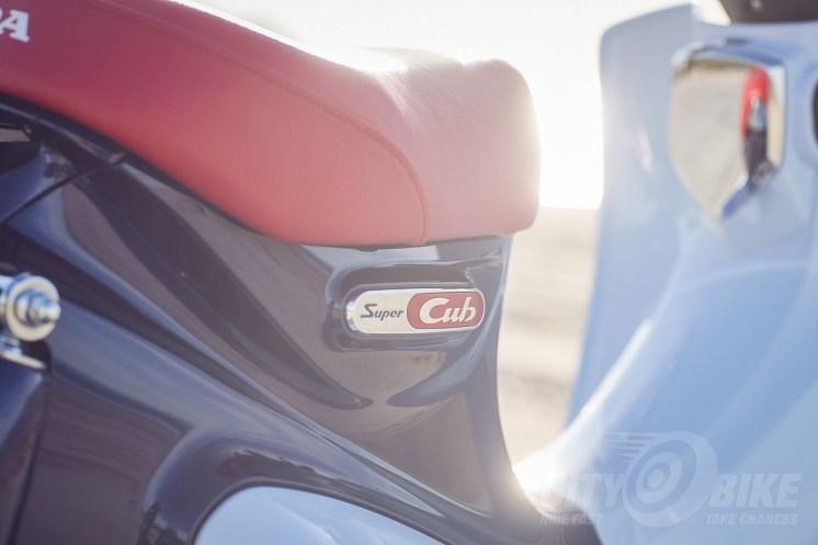 2019 Honda Super Cub seat.