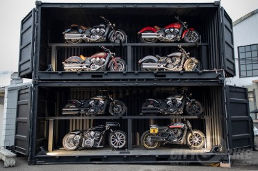 Stacked up Indian Scouts at the 2019 One Motorcycle Show