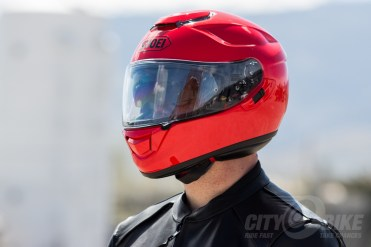 Shoei GT Air Helmet Review. Photos: Angelica Rubalcaba.