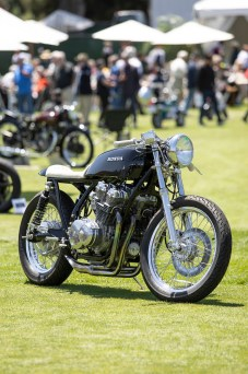 CB750 custom at the 2019 Quail Motorcycle Gathering. Photos: Angelica Rubalcaba.