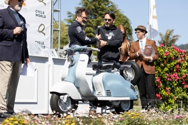 Eric Lussier's 1957 Lambretta LD150 MK3 at the 2019 Quail Motorcycle Gathering. Photo: Angelica Rubalcaba.
