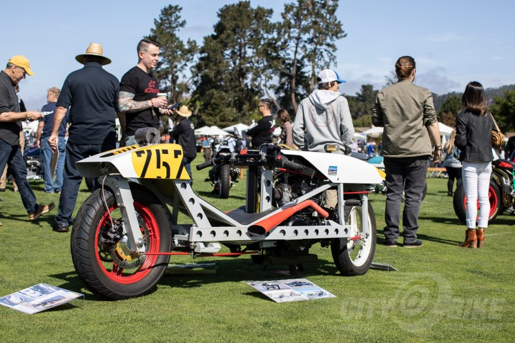 RoHorn racer at the 2019 Quail Motorcycle Gathering. Photo: Angelica Rubalcaba.