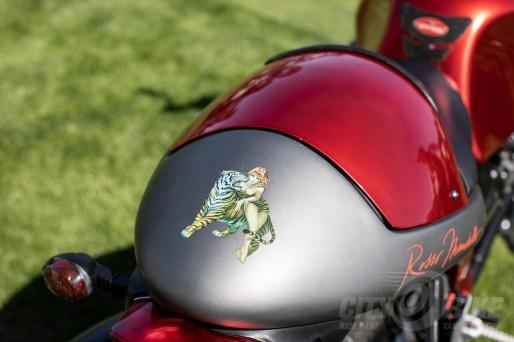 Moto Guzzi Rosso Mandello at the 2019 Quail Motorcycle Gathering. Photos: Angelica Rubalcaba.