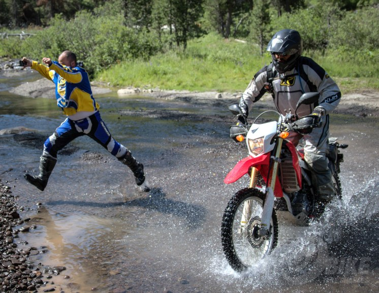 "We call this move the ""Invisible motorcycle."" Photo: Bungee Brent."