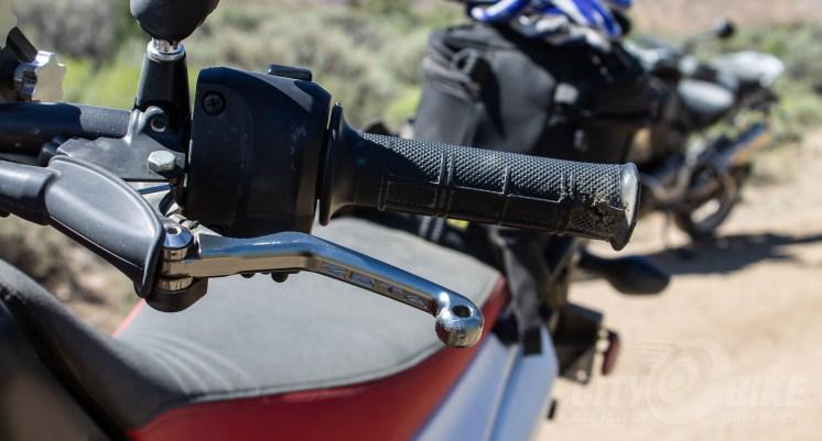 Zeta cutch lever on our project Honda CRF250L. Photo: Surj Gish.