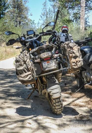 Mosko Moto Backcountry 35L solid-mount panniers. Photo: Surj Gish.