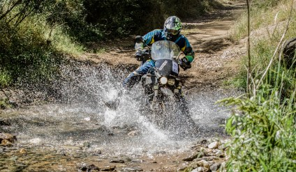 The Buell couldn't handle water crossings like the GS. Telelever wins again! Photo: Angelica Rubalcaba.