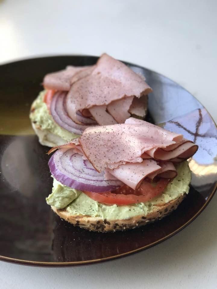 Smoked Ham Bagel