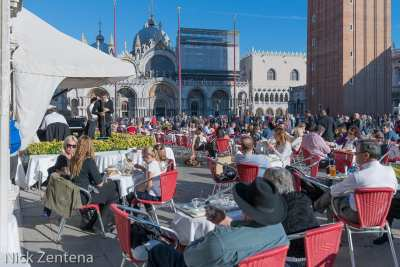Lunch in St. Mark's square