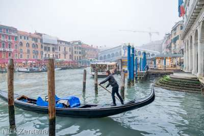 Venetian Gondolier at work