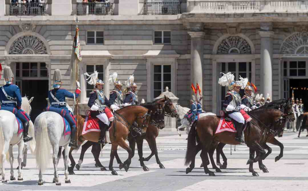 Changing of the Royal Spanish Guard Madrid