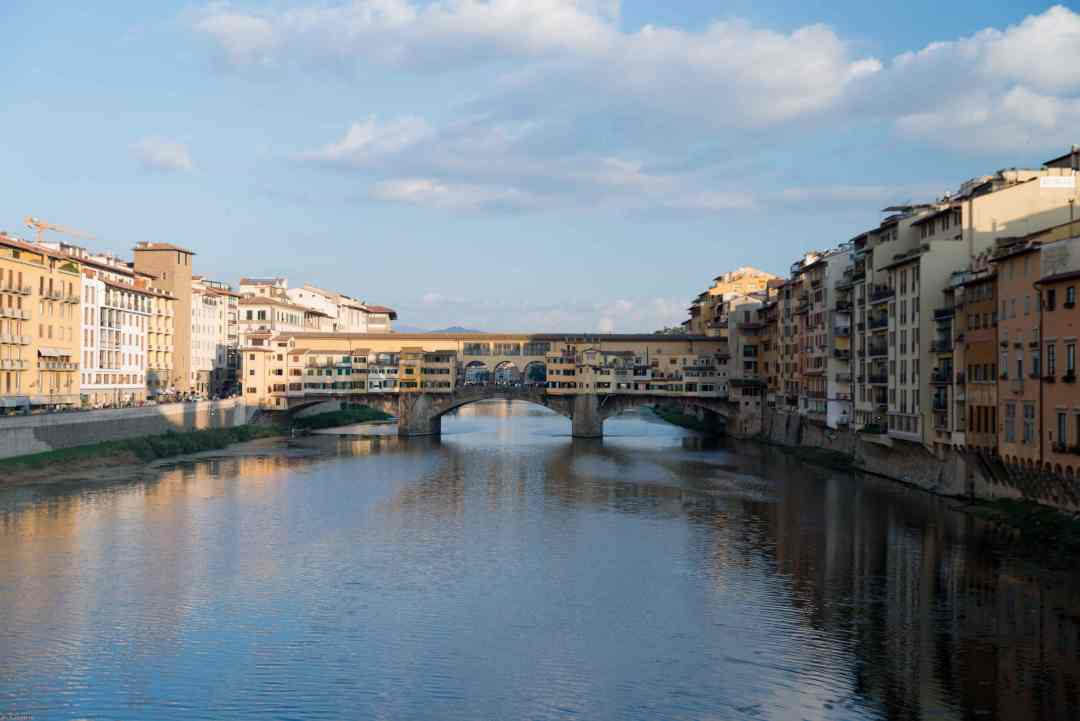 Bridge over the Arno river in Florence Italy