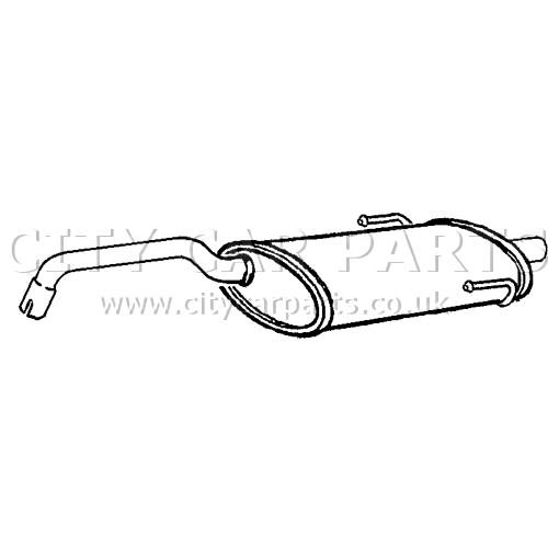 FIAT 500 312 1 2 MODELS 2007 TO 12/2011 EXHAUST SILENCER