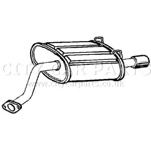 HONDA CR-V 2 0 MODELS 2001 TO 2007 EXHAUST REAR BACK BOX
