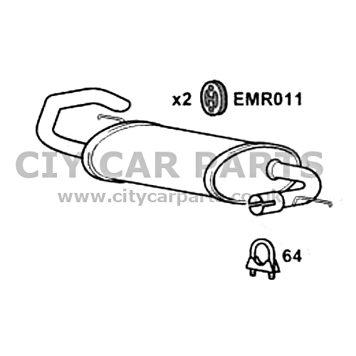 LAND ROVER FREELANDER 2 0 DIESEL MODELS 97 TO 2007 EXHAUST