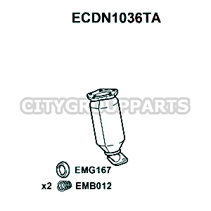 NISSAN NOTE E11 CR14DE R103 CLOSE COUPLED CATALYTIC