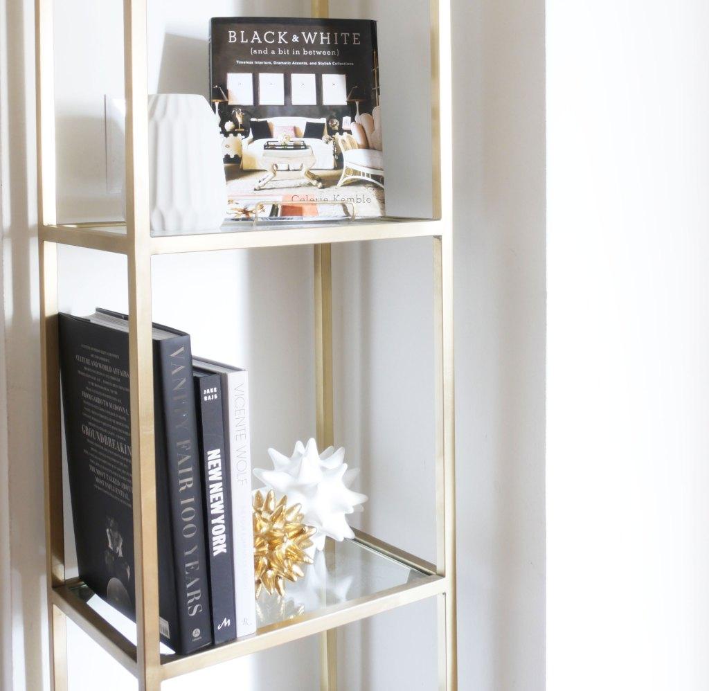How to Style an Étagère or Bookshelf