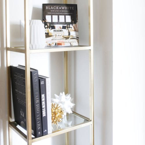 How to Style an Étagère or Bookshelf