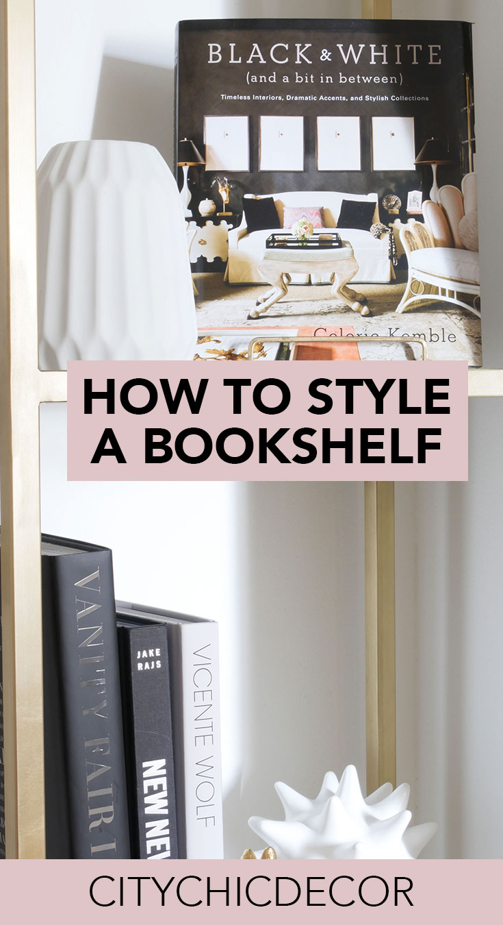 Have an etagere or bookshelf you need to decorate? Follow these guidelines to decorate it!. #bookshelfdecor #bookshelfstyling #bookshelfideas