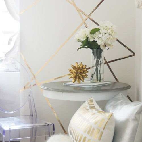 How to Create a Feature Wall Just Using Tape