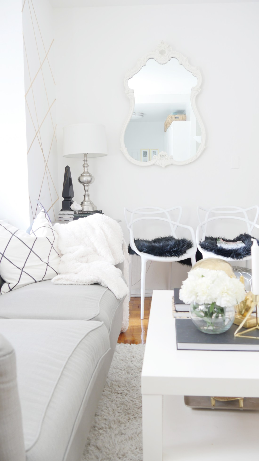 Glam Living Room || City Chic Decor