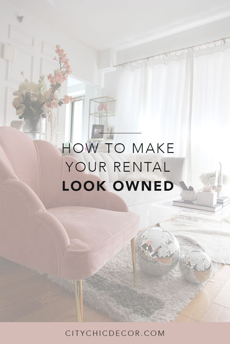 Just moved into a rental apartment? Here are some tricks to make it look like a permanent residence! Tips including how to decorate your walls and small living room ideas. #rentalhomedecorating #rentaldecorating #rentalapartmentdecorating #smalllivingroomideas #smallapartmentdecorating #smallapartmentideas #walldecor #rentalhomedecoratingdiy #livingroomdecor #livingroomideas