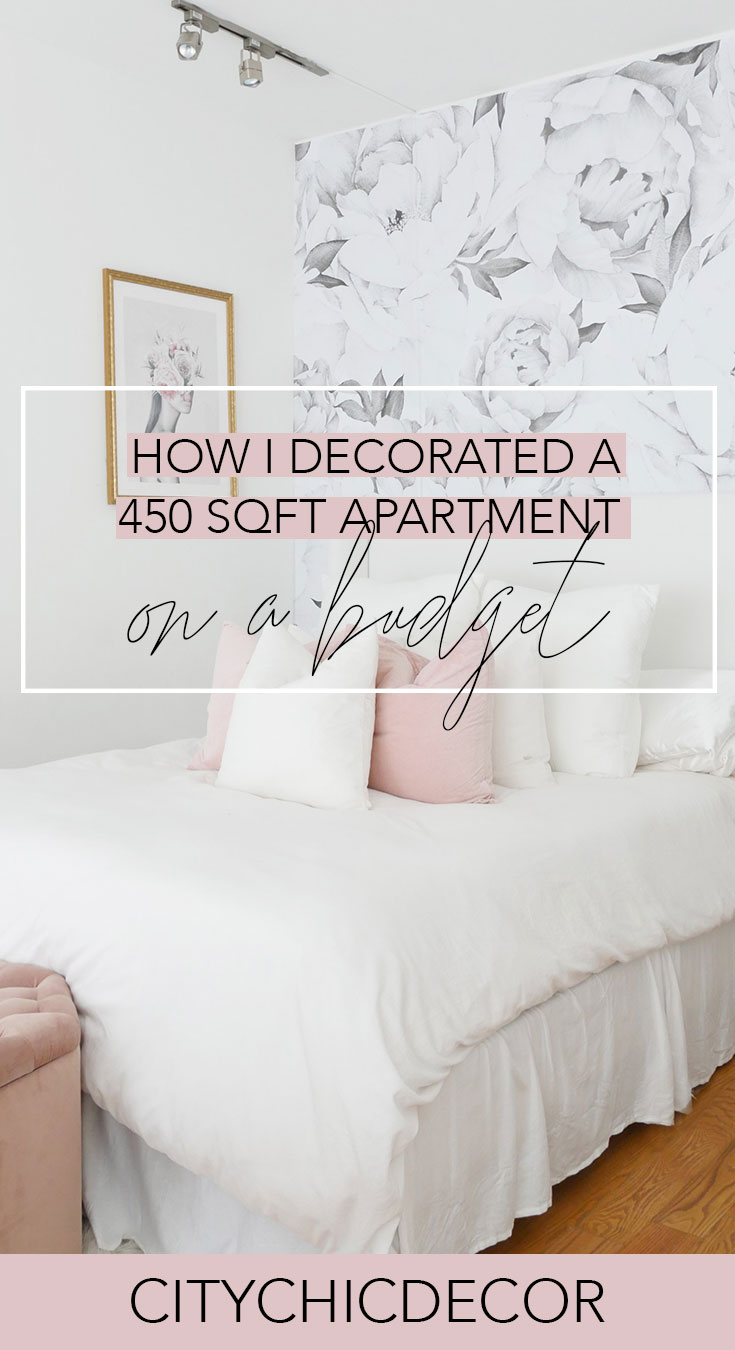 My 450 Sqft Studio Apartment Reveal City Chic Decor