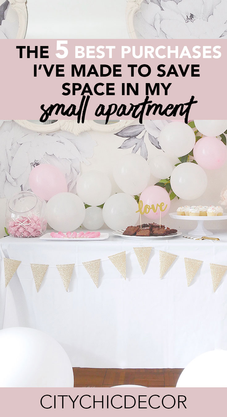 Live in a small apartment? These were the best purchases/ideas I've ever made to help save space. #organizationideas #organization #storageideas #storageideasforsmallspaces #storagesolutions #smalllivingroomideas #smallapartmentdecorating #smallapartmentideas