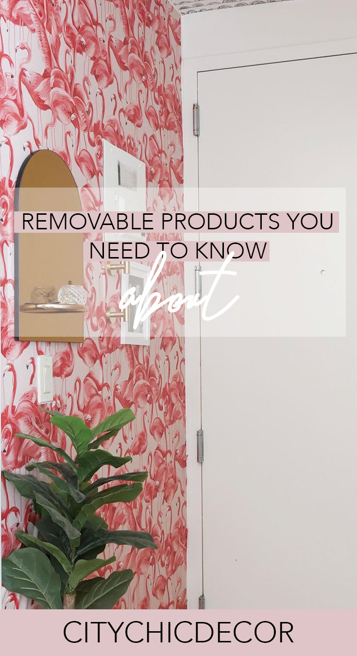 If you live in a rental and struggle decorating your home, you need to know about these removable products. From wallpaper, to flooring and backsplashes, these items will blog you away! #rentalhomedecorating #rentaldecorating #rentalapartmentdecorating #removablewallpaper #removablebacksplash #removableflooring