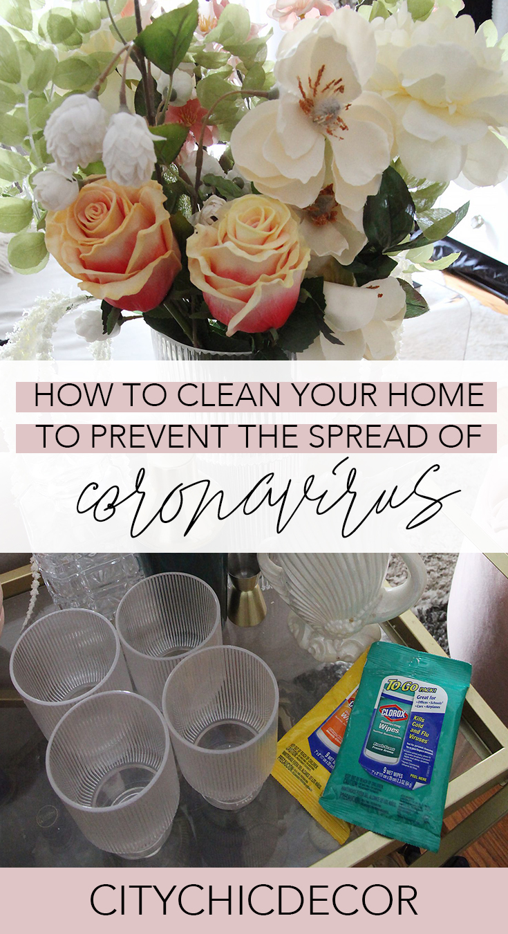 How to keep your home clean to prevent the spread of coronavirus or COVID-19 #germs #cleaning #coronavirus