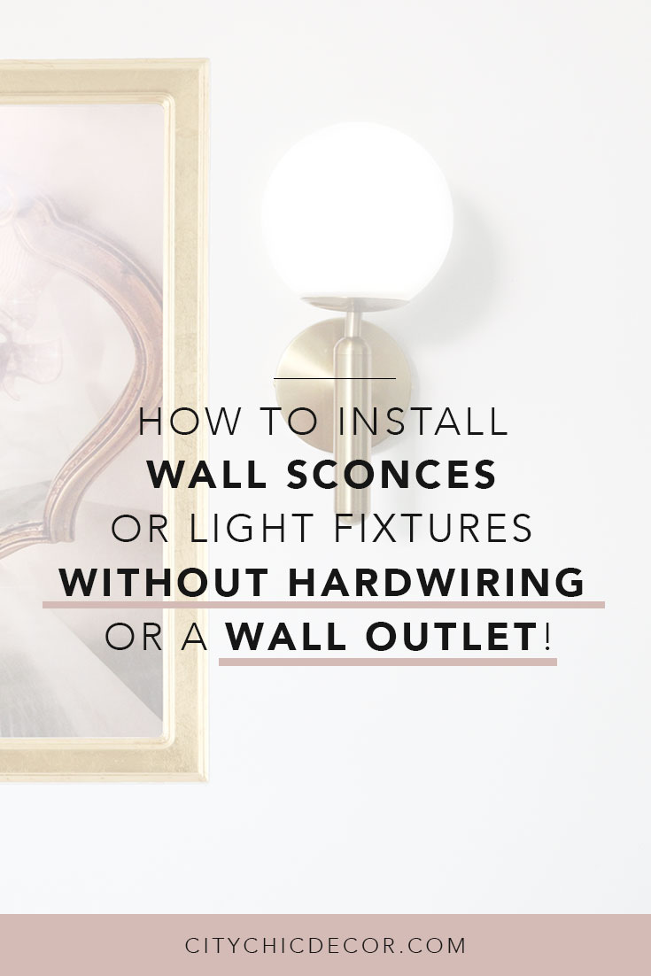 how to install wall sconces or light